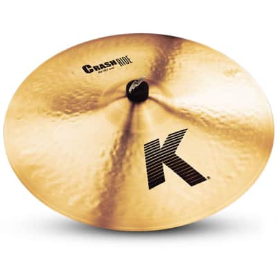 """Zildjian 20"""" K Series Crash Ride Drumset Cymbal with Traditional Finish & Low Profile K0810"""