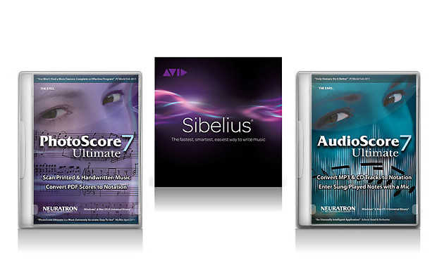 Avid Sibelius 8 plus PhotoScore Ultimate & AudioScore Ultimate Bundle
