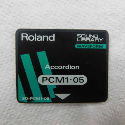 Roland  SO-PCM1-05 PCM Accordion card for JV-80, JV-90, JV-880, JV-1000, JV-1080, JD-800 and JD-990.