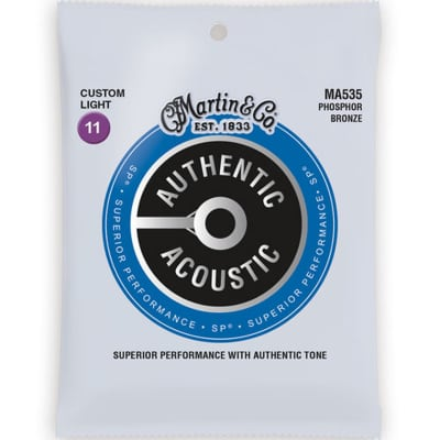 Martin Authentic Acoustic SP Strings - Phosphor Bronze Custom Light