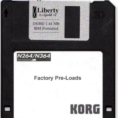 Korg N-264/364 Factory Preload Disk