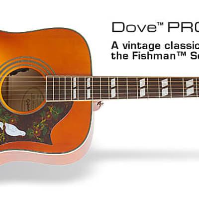 Epiphone Dove Studio Electro Acoustic Guitar for sale