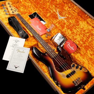 Fender Custom Shop Master BuilT 60 Jazz Bass Relic 3 Tone Sunburst Dennis Galuszka- Shipping Include