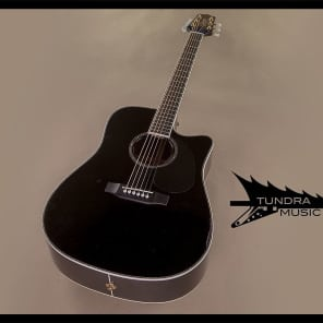 Takamine EG531DLX Dreadnought Acoustic/Electric - Black (492) for sale