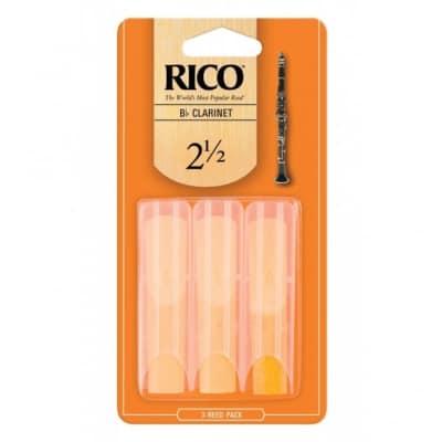 Rico Bb Clarinet Reeds - Strength 2.5 (3-Pack)