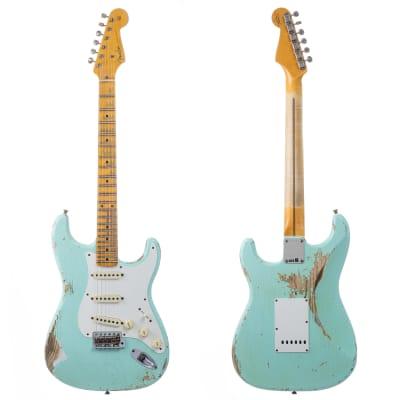 Fender Custom Shop 1957 Stratocaster Heavy Relic, Lark Guitars Custom Run -  Surf Green (317) for sale