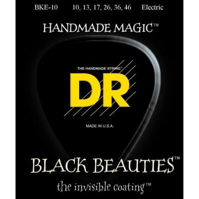 DR BKE-10 Black Beauties Coated Electric Guitar Strings - Medium (10-46)