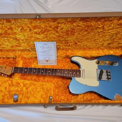 1999 Fender Custom Shop '63 Reissue Telecaster Relic Lake Placid Blue for sale