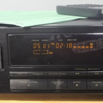 Single Disc Pioneer CD Player PD-4550 w Remote & Manual - Burr Brown PCM1700P DAC -