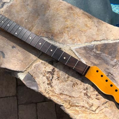Allparts / Real Life Relics TRO-C Tele Telecaster Neck Relic Fender Amber Aged Nitro Lacquer #2