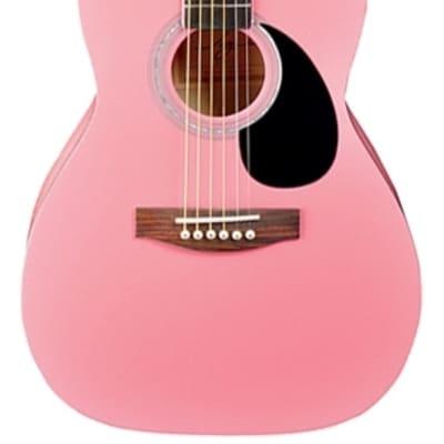 Jay Turser JJ43-PK-A JT J Jr. 3/4 Size Acoustic Pink New, Ships Free for sale