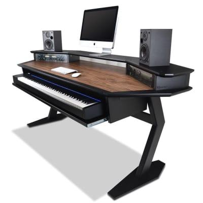 AZ Studio Workstations Oxford Studio Desk Walnut & Black