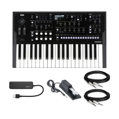 Korg Wavestate Wave Sequencing 37-Key Digital Synthesizer with Pedal Bundle