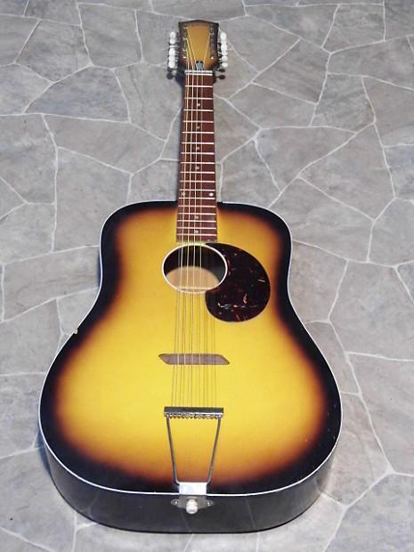 vintage egmond 12string acoustic dreadnought guitar gitarre reverb. Black Bedroom Furniture Sets. Home Design Ideas