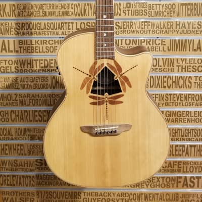 Luna Oracle Dragonfly A/E Solid Spruce Top in Natural for sale