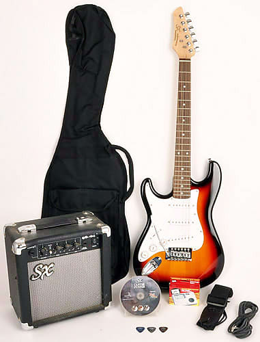 Sx 3 4 Size Electric Guitar Package W Amp Bag Cord Reverb