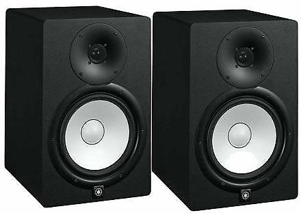 yamaha hs8 powered studio monitor pair with xlr cables reverb. Black Bedroom Furniture Sets. Home Design Ideas