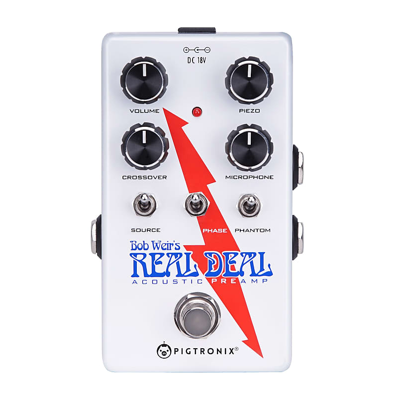 Pigtronix Bob Weirs Real Deal Acoustic Preamp Guitar Pedal w/ 18VDC Power Supply image