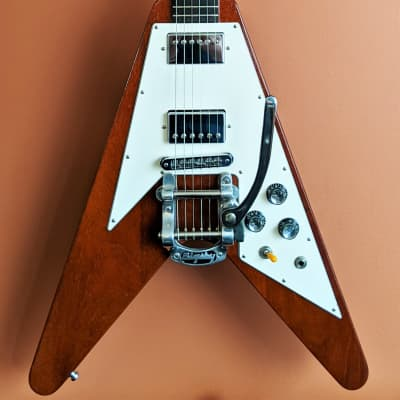 2002 Gibson Flying V Guitar Faded Cherry RARE Ebony Fingerboard Crescent Moon Inlays W/Gator V Case for sale