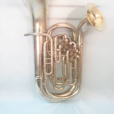 Conn Double Bell Euphonium-Gold Plated-Engraved-Made 1913-Clean-Playable-w/Case!