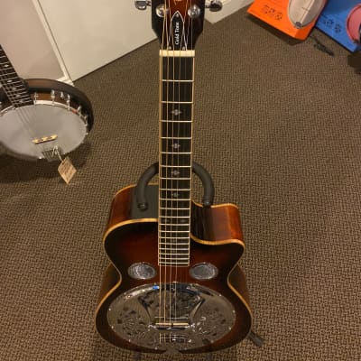 Gold Tone PBR-CA Paul Beard Signature Round Neck Resonator w/ Cutaway Two Tone Tobacco for sale