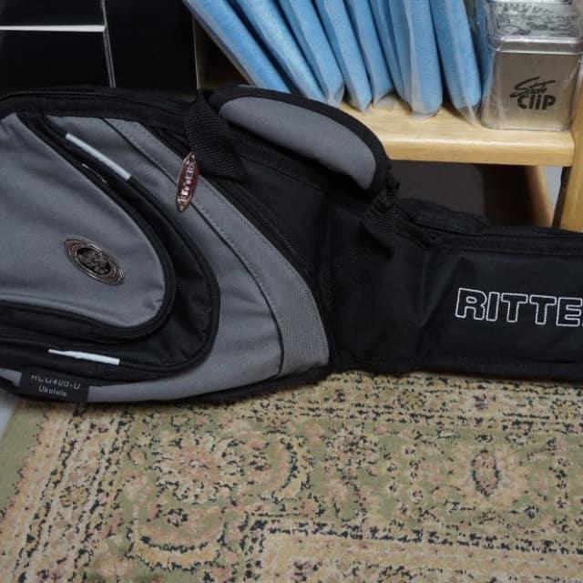 Ritter RCG400-9-U Soprano Ukulele Gig Bag Black and Steel Grey image