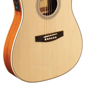 Indiana I-TB2N Thin Body Dreadnought with Electronics Natural