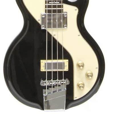 Italia Mondial Sportster Bass Black w/ Gig Bag
