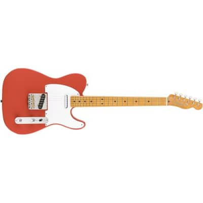 Fender Vintera '50s Telecaster Electric Guitar, 21 Frets, Early '50s  U  ShapeNeck, Maple Fingerboard, Gloss Polyester, Fiesta Red for sale