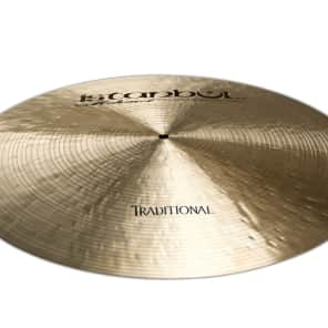 "Istanbul Mehmet 21"" Traditional Series Flat Ride Cymbal w/ Rivets"