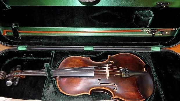 Johann Samuel Fritsche In Leipzig Violin c  1880 w/ Case & Bow Certificate  of Appraisal For $3800