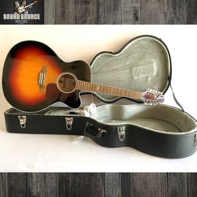 Takamine Takamine GJ72CE-12 string, Acoustic-Electric, Hard Case 2020 Burst for sale