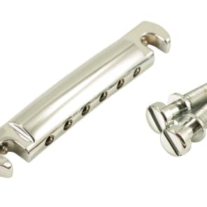Kluson Lightweight Aluminum Wraparound Stop Bar Chrome W/Steel Studs - KLP-1125C
