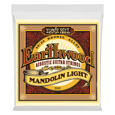 Ernie Ball Earthwood Mandolin Light Loop End 80/20 Bronze Acoustic Guitar Strings - 9-34 Gauge