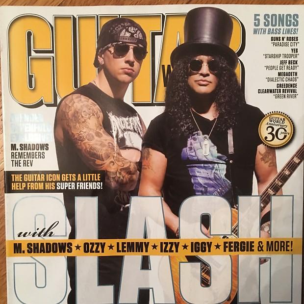 Guitar World May 2010 Slash M  Shadows