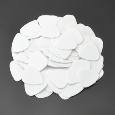 ABS Plastic White Guitar Or Bass Pick - 0.71 mm Medium Gauge - 351 Shape - 24 Pack New