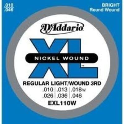 D'Addario XL110W Electric Guitar Strings - Wound 3rd