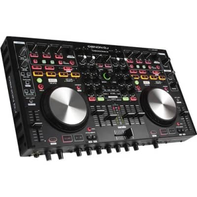 Denon DJ DJ MC6000MK2 Professional 4-Channel Digital Mixer and Controller with Full Version Serato DJ Voucher, Built-In DVS Support