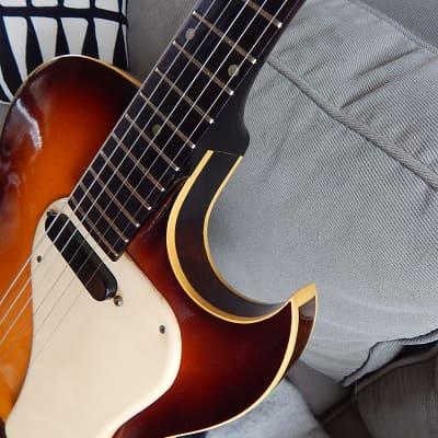 Vintage 1966 Gibson made Epiphone E444TC Granada rare cutaway model for sale