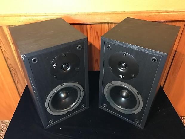 Cerwin Vega LS 5 Black Two Way Bookshelf Speakers Surround Stereo Vintage Hi Fi