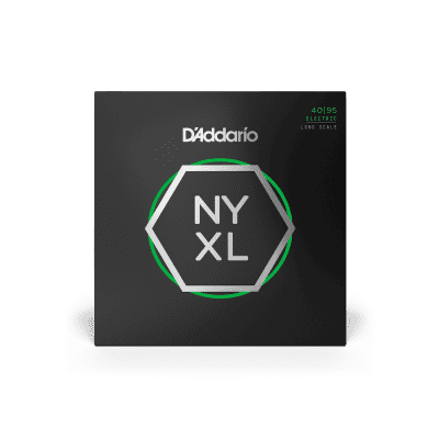D'Addario NYXL4095 Nickel Wound Bass Guitar Strings Super Light 40-95 Long Scale