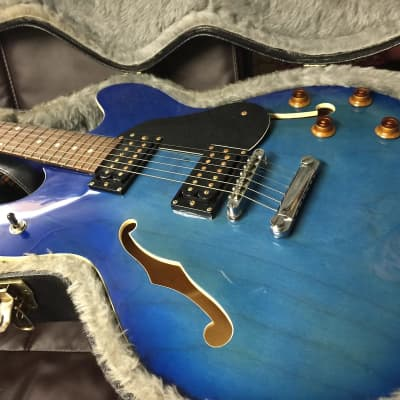 Oscar Schmidt OE30 Delta King Semi-Hollow 2010s Blue for sale