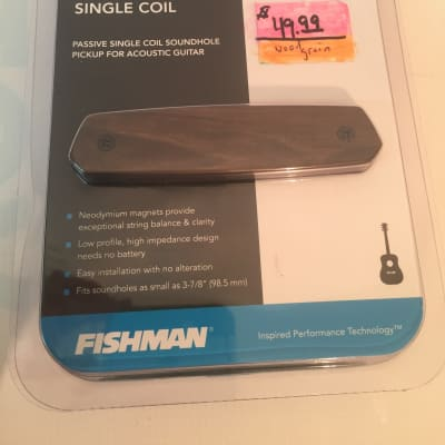 Fishman Neo-D Wood Grain Single Coil Pickup-Acoustic Guitar-Quick Easy Install!