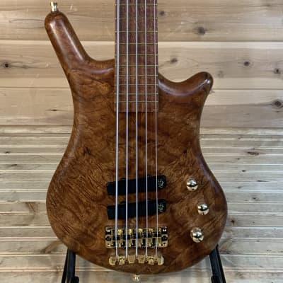 Warwick Thumb Bolt-On 5 LTD 2020 Electric Bass - Mahogany Burl for sale