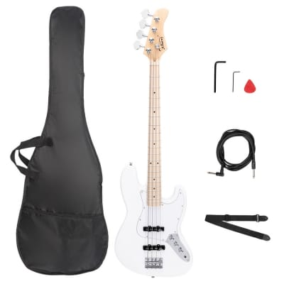 G Jazz Ⅱ Electric Bass Guitar  W/ Upgraded Pickups Bone Nut & Canadian Maple Neck for sale