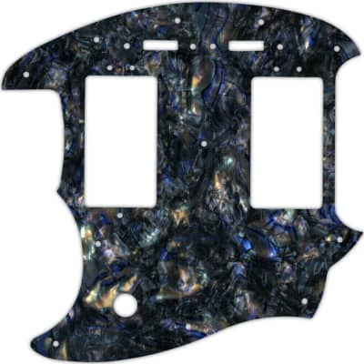 WD Custom Pickguard For Left Hand Fender Pawn Shop Mustang Special #35 Black Abalone