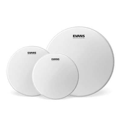 "Evans ETP-UV1-F UV1 Fusion Coated (10/12/14"") Drum Head Pack"