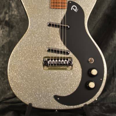 Danelectro D59M NOS + Plus DC Double cut  Silver Metalflake Sparkle w FAST n FREE Shipping for sale