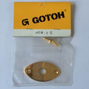 Gotoh JCB-2G – Input jack panel oval gold 80's Gold for sale