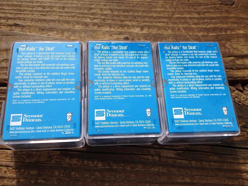 Seymour Duncan SHR-1 Strat Hot Rails Set White 2x SHR-1n / 1x | Reverb